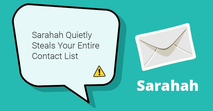 Beware! Popular Sarahah App Secretly Steals Your Entire Contact List https://t.co/umL7dWU8tx #privacy