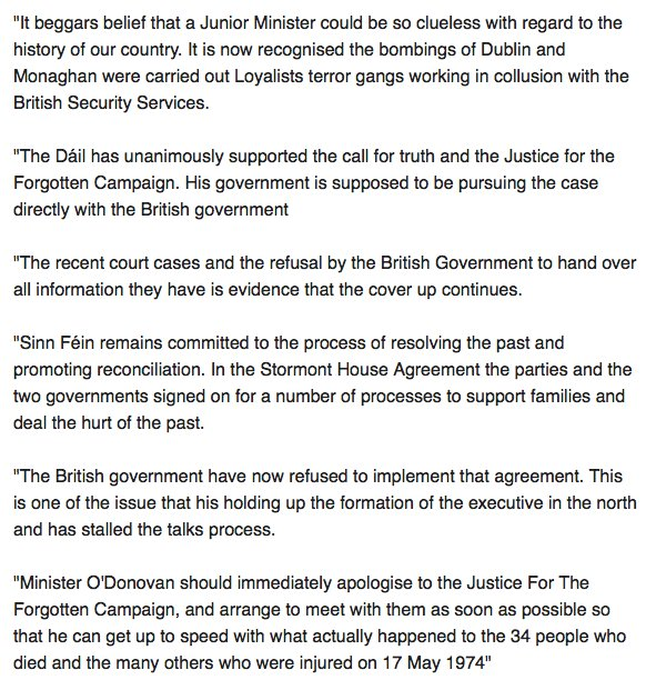 Hugh Oconnell On Twitter Thats The Dublin And Monaghan Bombings