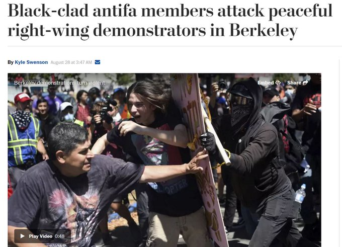 Image result for image of antifa versus the tea party