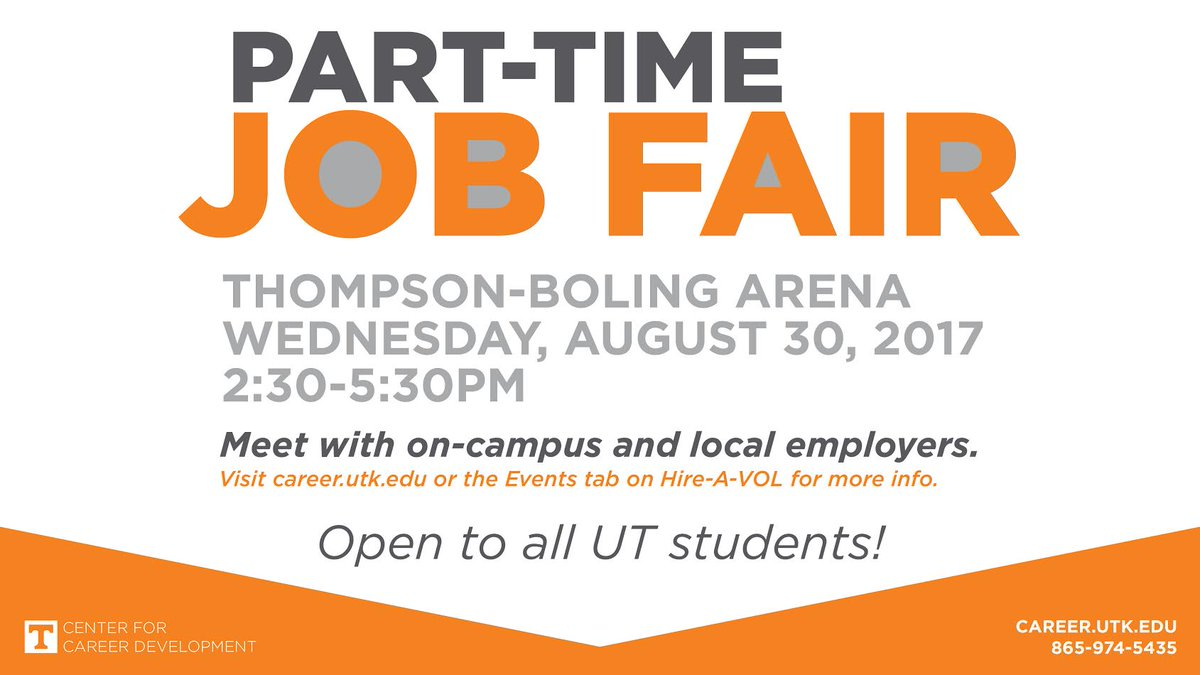 utkcareerdevelopment on twitter looking for a part time or