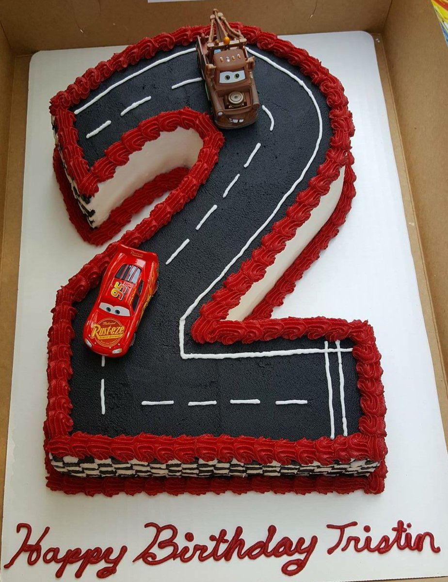 Groovy Cupcakes By Flea On Twitter Cars Racetrack Birthday Cake Cars Funny Birthday Cards Online Alyptdamsfinfo