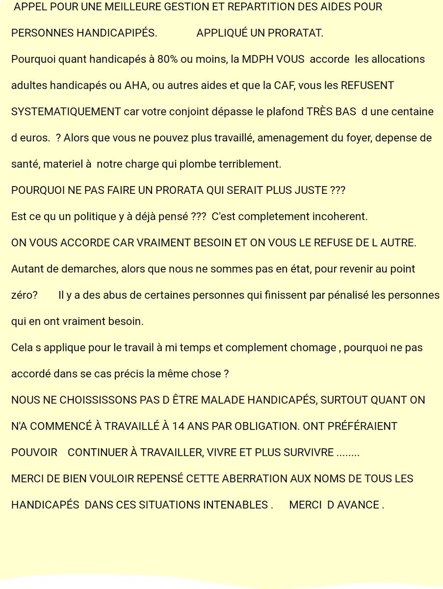 #Handicap # #AHA #allocations #aide #accessibilite #accessible-pour-tous #handicap #ministres #Macron<br>http://pic.twitter.com/2UgAzHw4GO