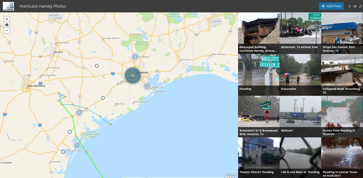 Crowdsourced photo map to help first responders and emergency managers identify needs: https://t.co/L5sRM1miYd https://t.co/N5EcZvvy8g