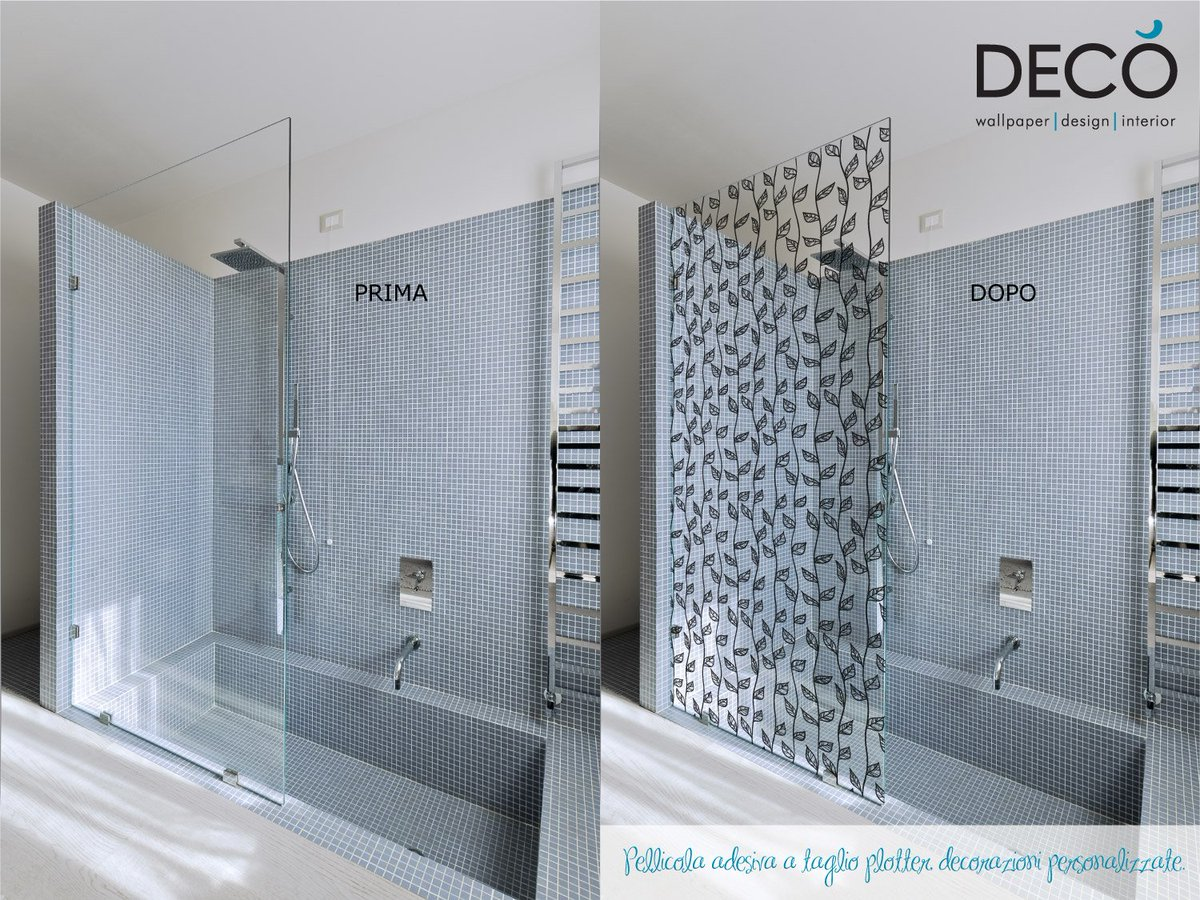 Deco Wallpaper On Twitter Decorazioni Adesive Per Box Doccia