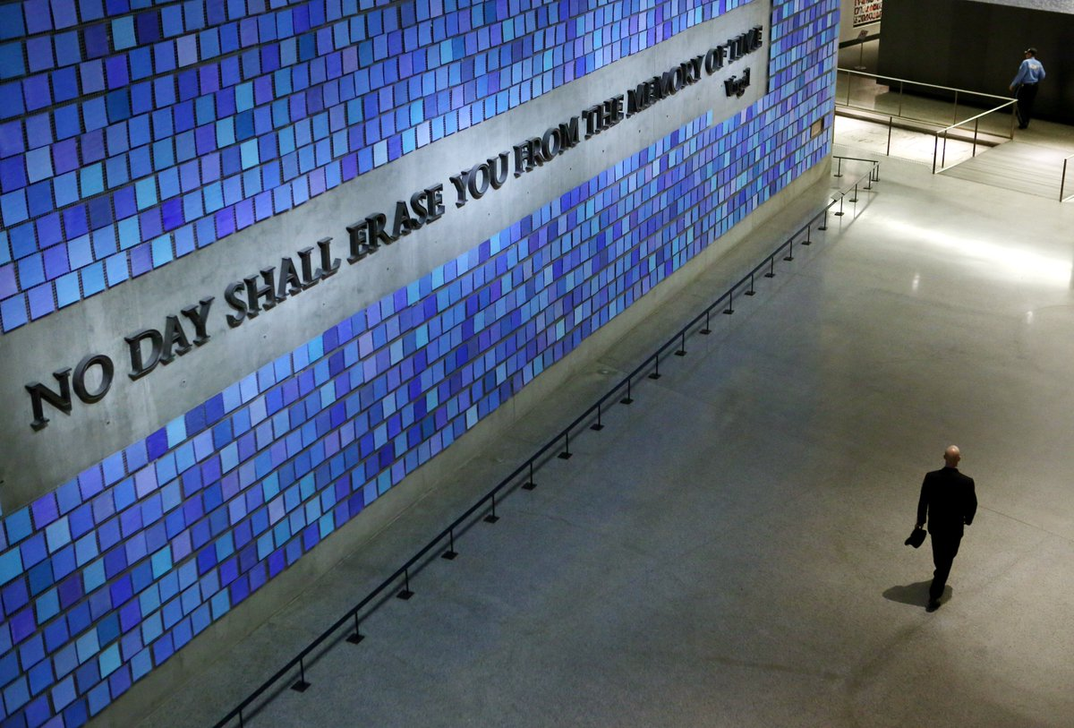 """No day shall erase you from the memory of time."" -Virgil #NeverForget #911Museum"