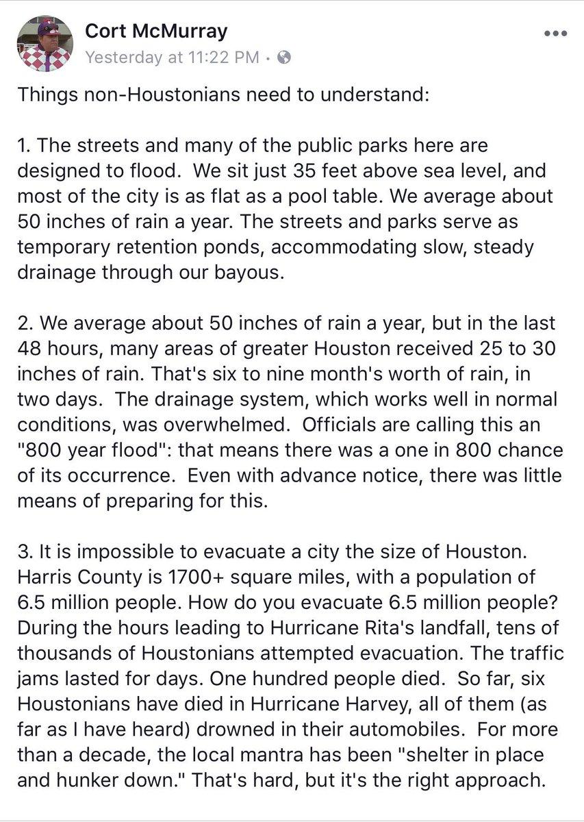 Sharing via FB. #HarveyFlood #Houston #HoustonFloods https://t.co/thKBBMK2bm