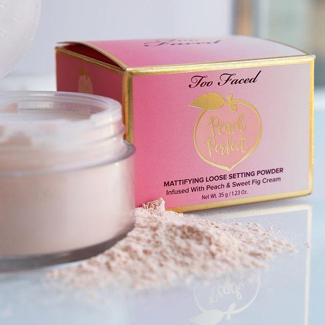 Kết quả hình ảnh cho Too Faced Peach Perfect Mattifying Setting Powder