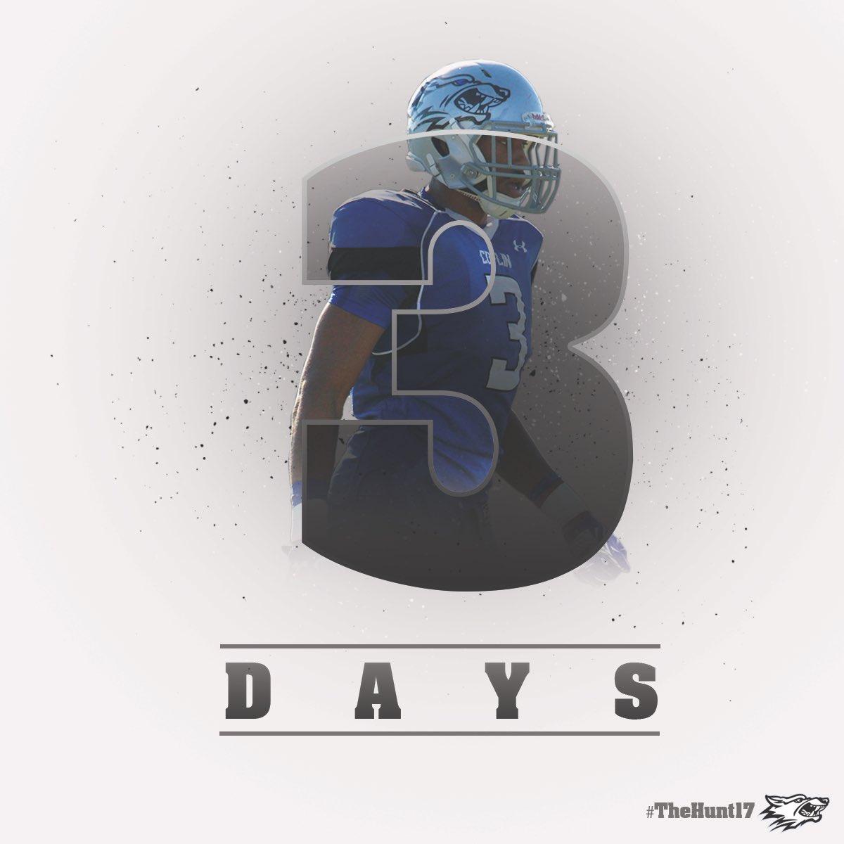 3️⃣ days till pay day 💸💰#TheHunt17