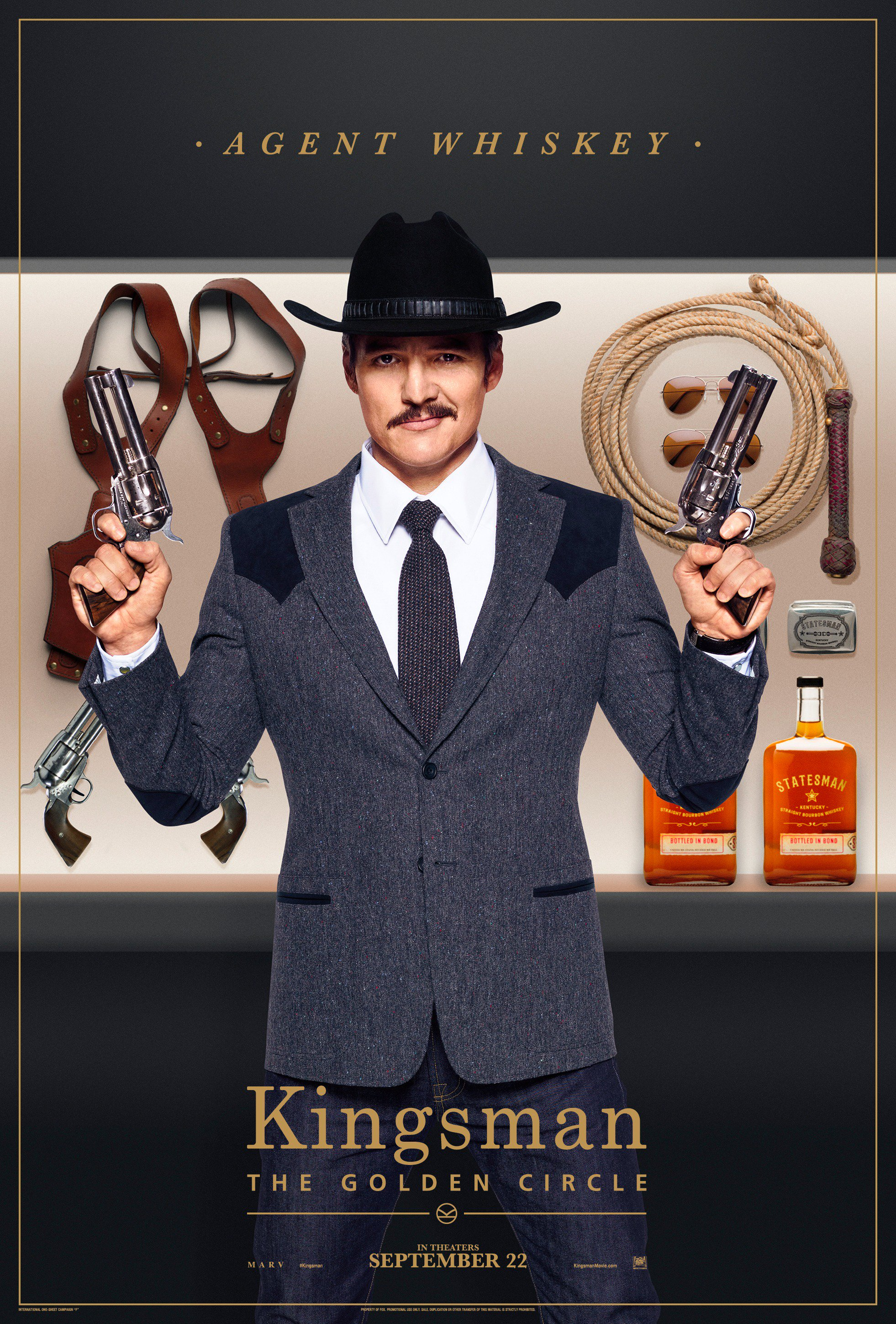 Kingsman Golden Circle karakterposters Whiskey