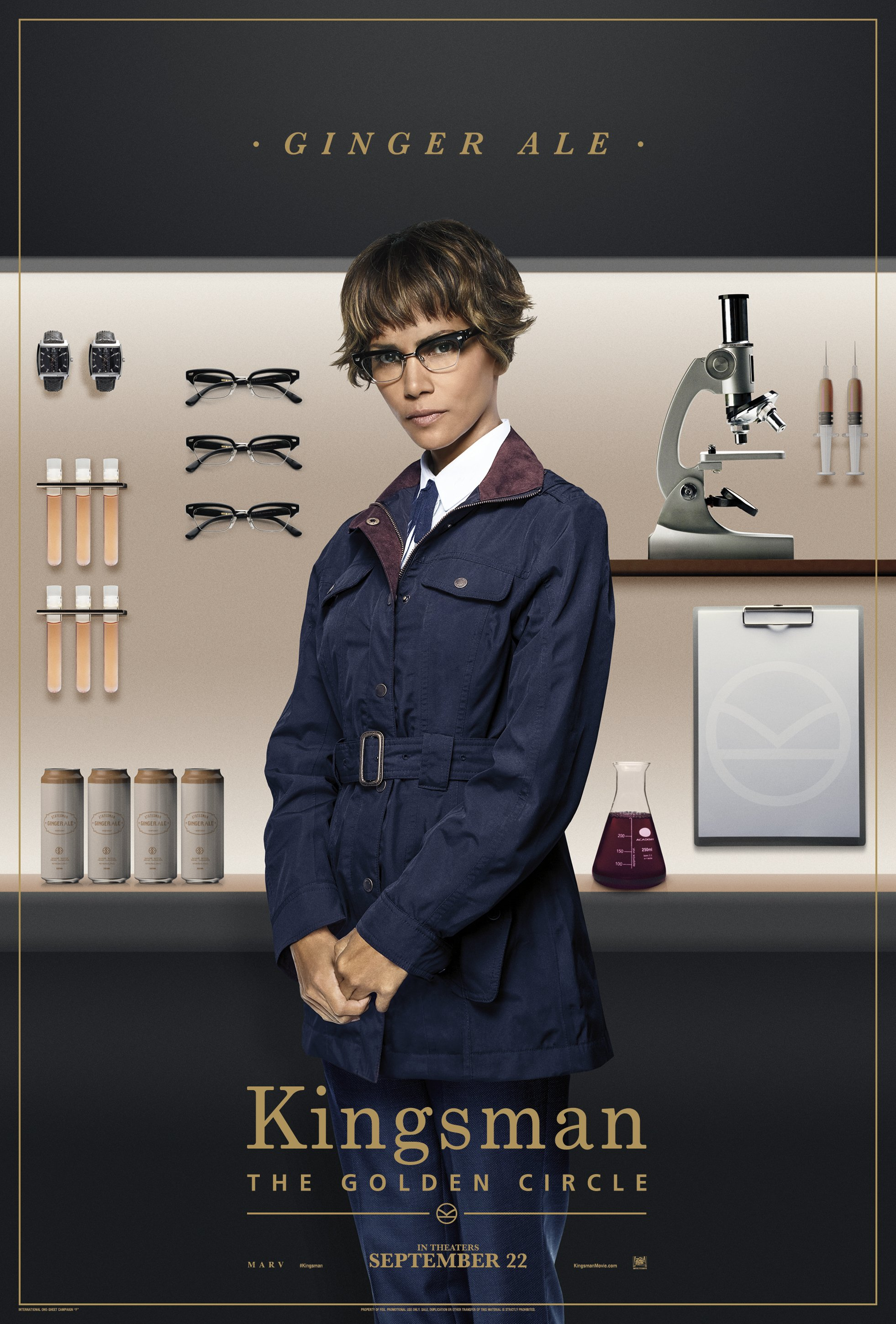 Kingsman Golden Circle karakterposters Ginger Ale