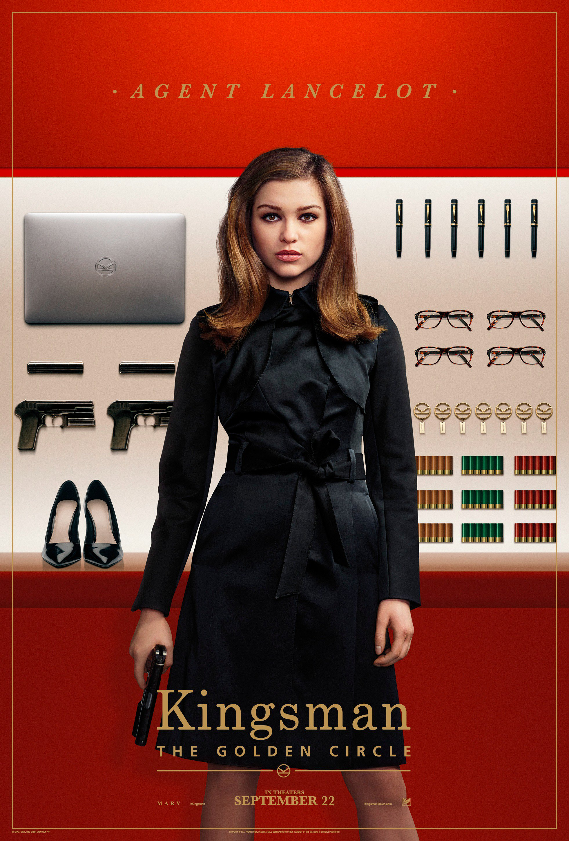 Kingsman Golden Circle karakterposters Agent Lancelot