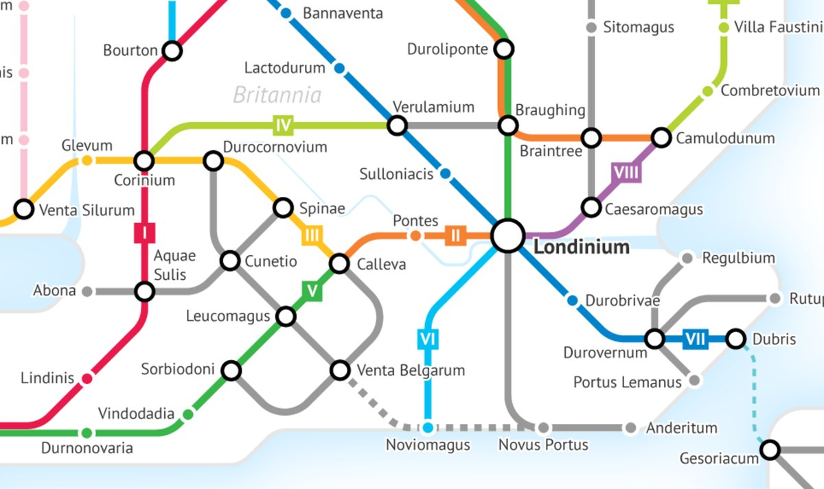 Roman Roads As A Subway Map.Open Culture On Twitter The Roman Roads Of Britain Visualized As A
