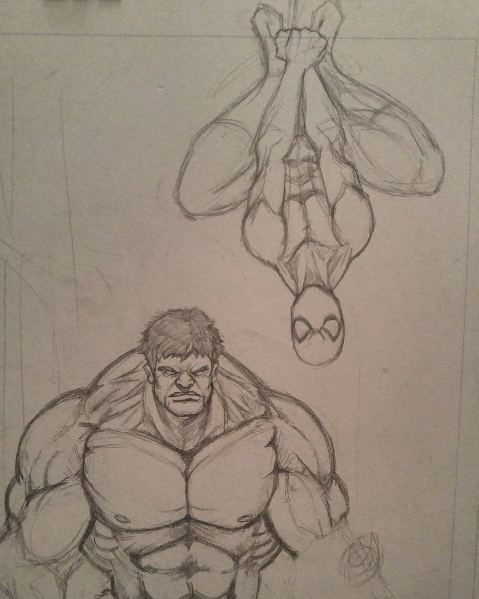 Cleaned up Hulk a bit and added Spider-Man in #hulk #spiderman #Marvel #marvelnow #marvelcomics #comicbookcovers #comics<br>http://pic.twitter.com/G3hpstsUwA
