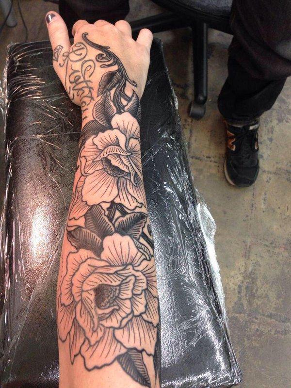Tattoos On Twitter Rose Sleeve