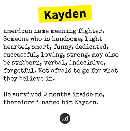 caden name meaning urban dictionary
