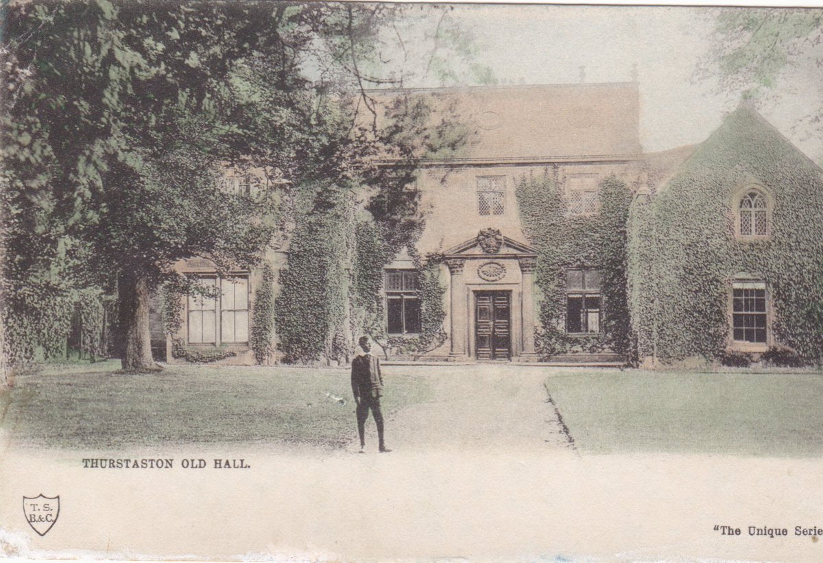 VIntage Postcard Of Thurstaston Old Hall Wirral In Our Store Posted Frankby