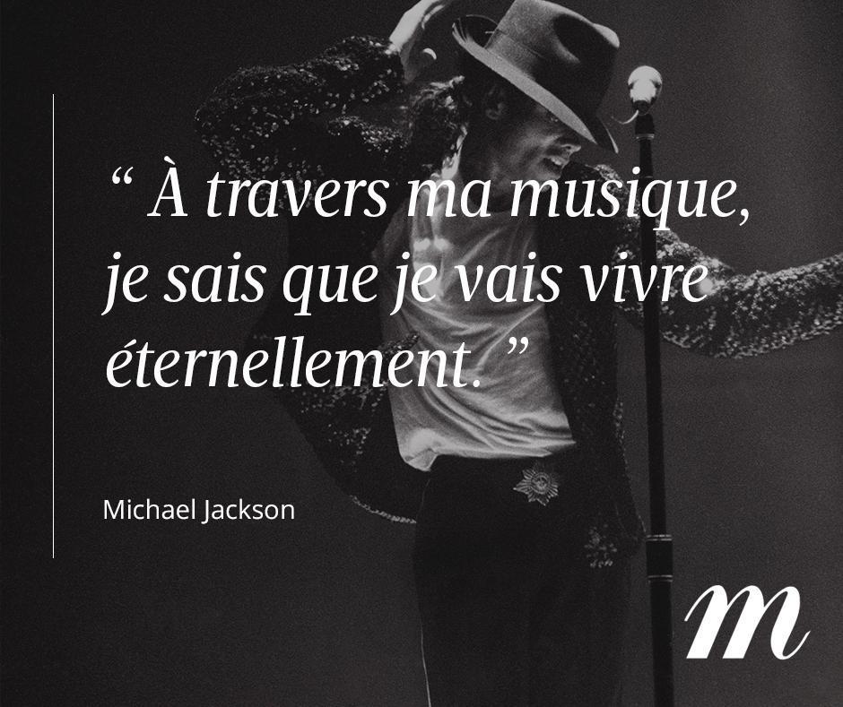 Hommage au roi de la pop qui aurait aujourd'hui fêté ses 59 ans. #MichaelJackson #Musique #People #Citation