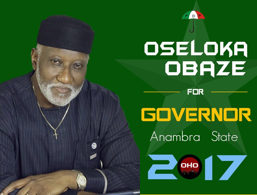 Anambrarians shed tears that Oseloka Obaze was denied opportunity to govern a state he loved so much as to resign from his plum job/position in UN.