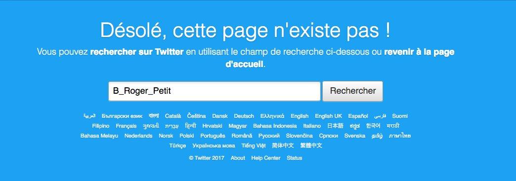 Encore plus simple : serein, Bruno Roger-Petit a supprimé son compte Twitter >> @B_Roger_Petit