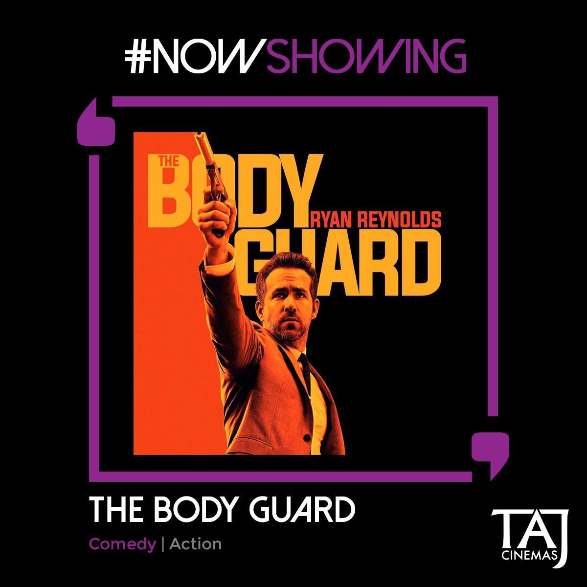 #Action #Comedy  The Hitman. The Bodyguard. Who's protecting who? Get triggered on today with #TheHitmansBodyguard Now Showing @TajCinemas. https://t.co/uGgcSvg8JH
