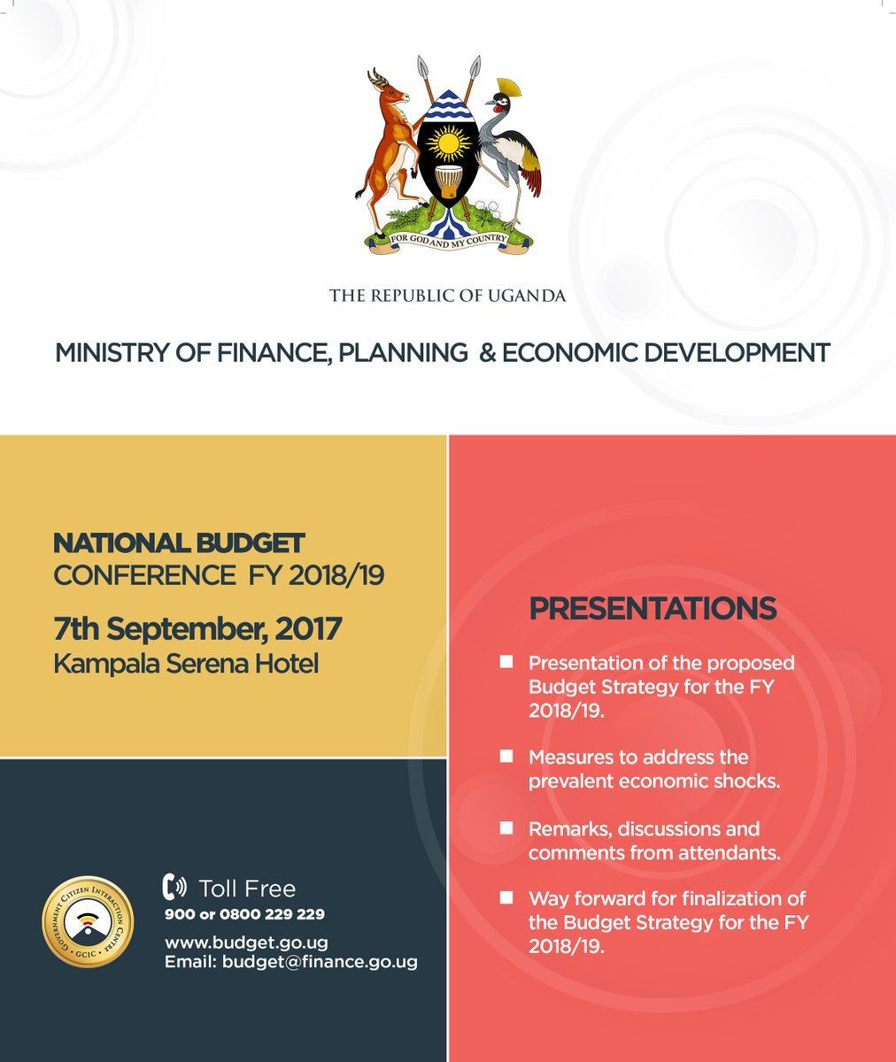 gcic uganda on twitter the national budget conference fy 201819 will encourage interactions between agencies on significant issues affecting the