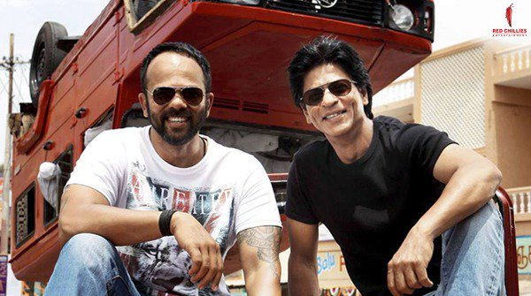 Throwback to this dynamic duo, Rohit Shetty and @iamsrk! Can you guess which movie is this picture from? https://t.co/9PDyJXjJpb