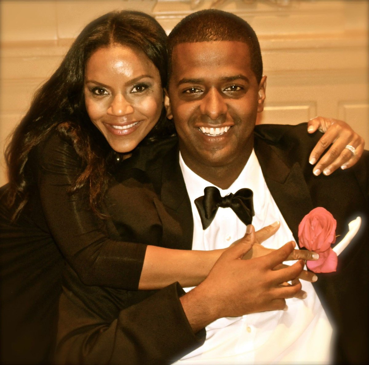 Ellen Rucker and husband Bakari Sellers