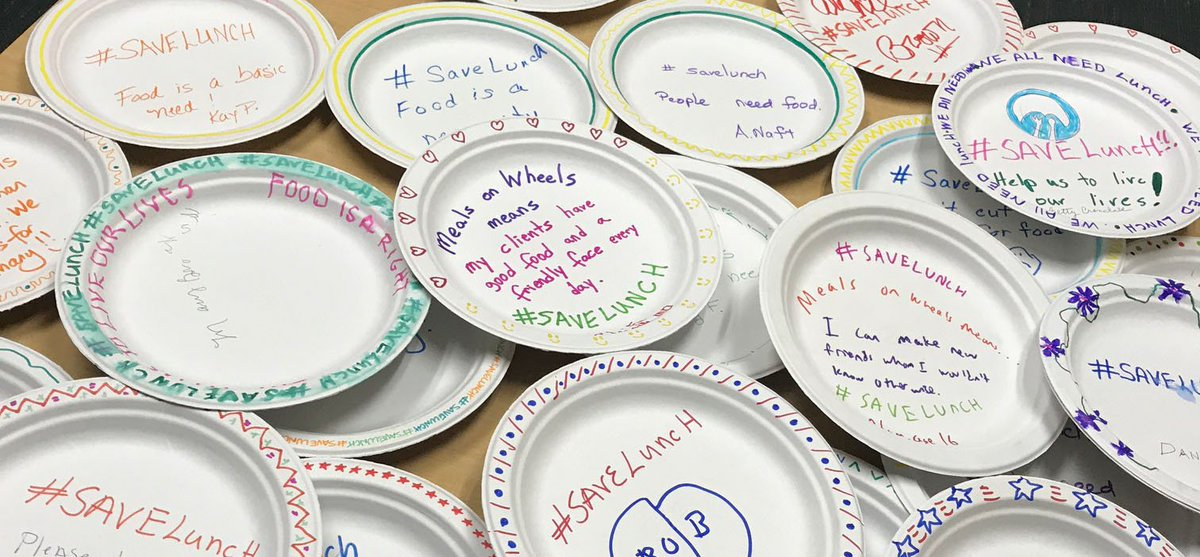 Meals on Wheels MD on Twitter \ Piles of plates are coming in for our #savelunch paper plate c&aign. Keep them coming //t.co/AZQVpNnk7z\u2026 \  & Meals on Wheels MD on Twitter: \