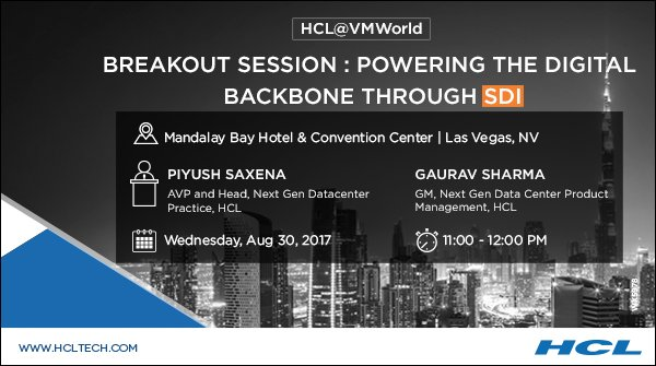 Hcl technologies on twitter discover the software defined hcl technologies on twitter discover the software defined blueprint to re invent your business mark your calendars at vmworld httpstiwewql3v4u malvernweather Gallery