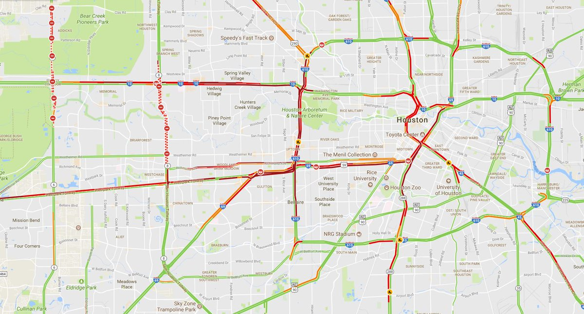 Jacob Carpenter On Twitter The Houston Traffic Map At 7 P M On A
