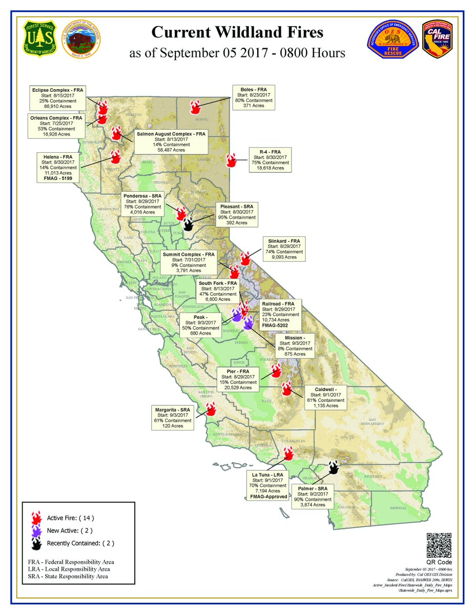 Fires California Map.Usfs Fire California On Twitter Current California Wildland Fires