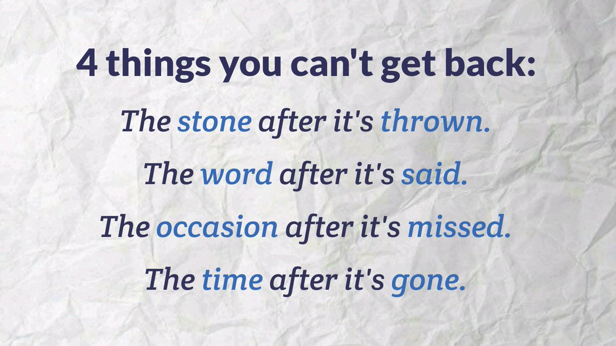 Good Life Quotes On Twitter 4 Things You Cant Get Back