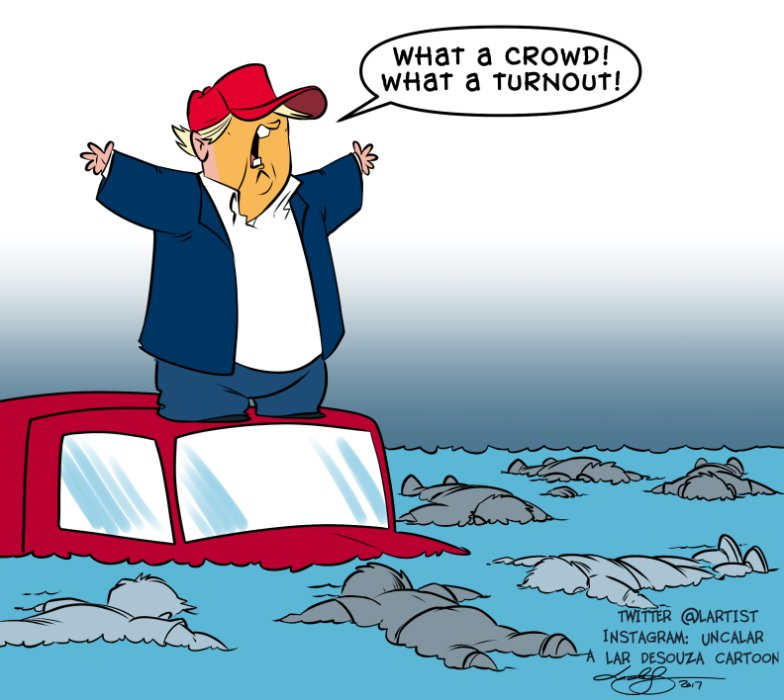 Editorial cartoon: Trump visits Texas. https://t.co/WhWnF2ZFjN