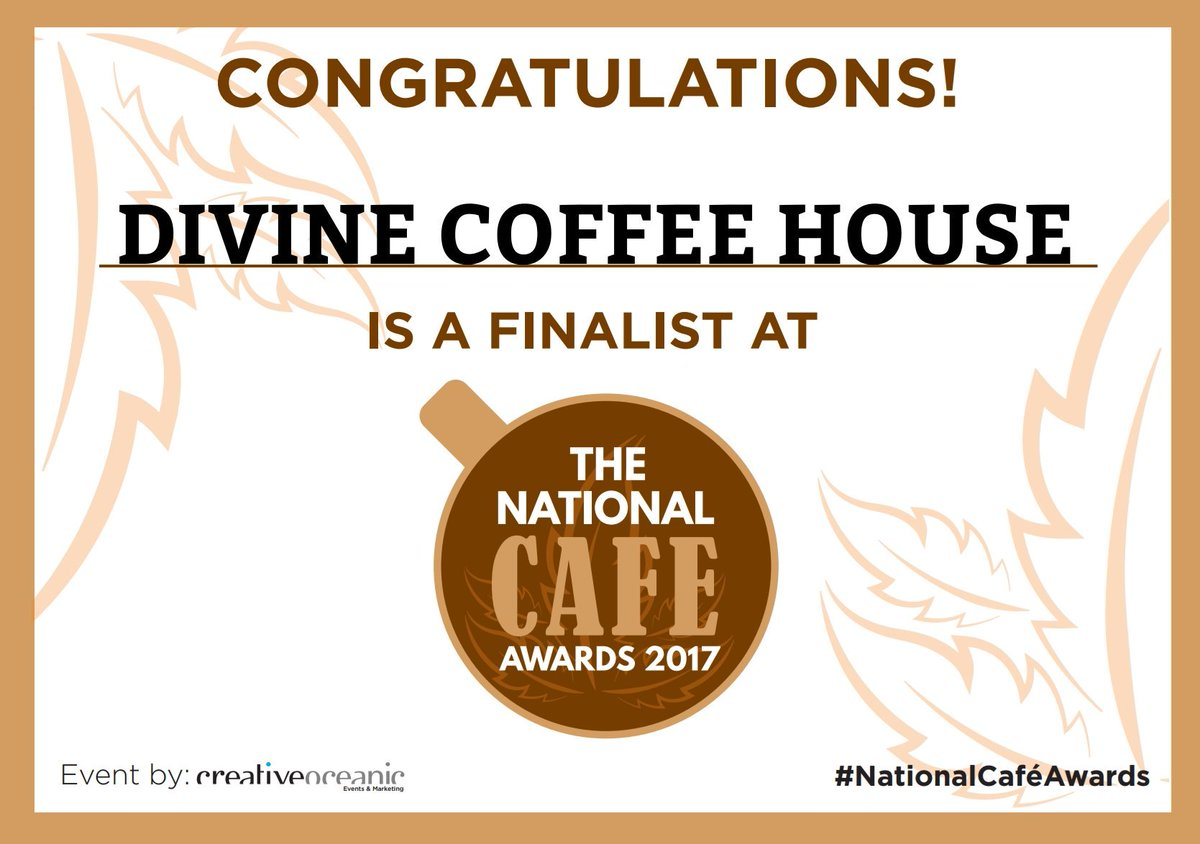 #nationalcafeawards finalist in the &#39;customer most wanted&#39; category. Thank you all for the nominations! <br>http://pic.twitter.com/5bZ5IAVzyi