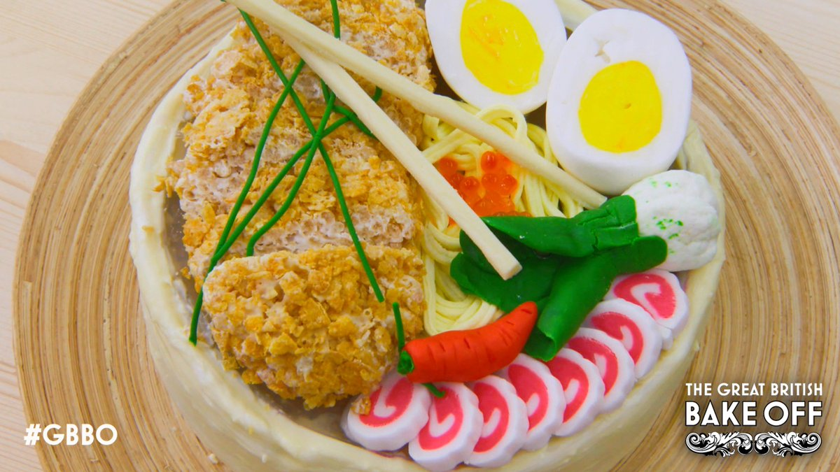 It's love in the first degree for this Banana-ramen Cake. #GBBO