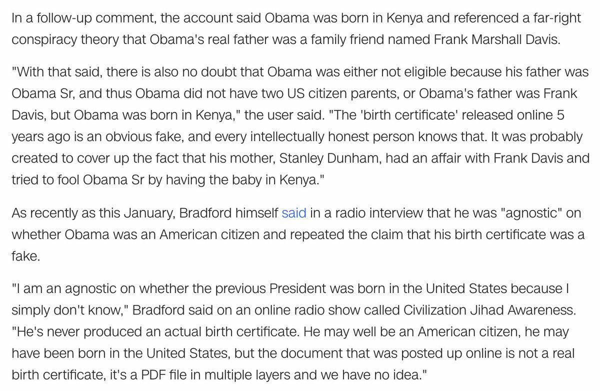 Andrew kaczynski on twitter the bradford account also the bradford account also repeatedly said obamaa birth certificate was a fake pfd file also said this on radio aiddatafo Image collections