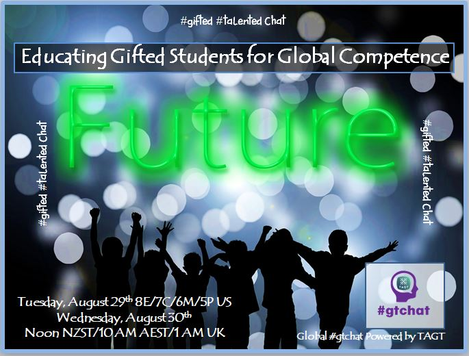 """T-10 till #gtchat - Today we'll be chatting about """"Educating Gifted Students for Global Competence."""" https://t.co/1bitd5I4oC"""
