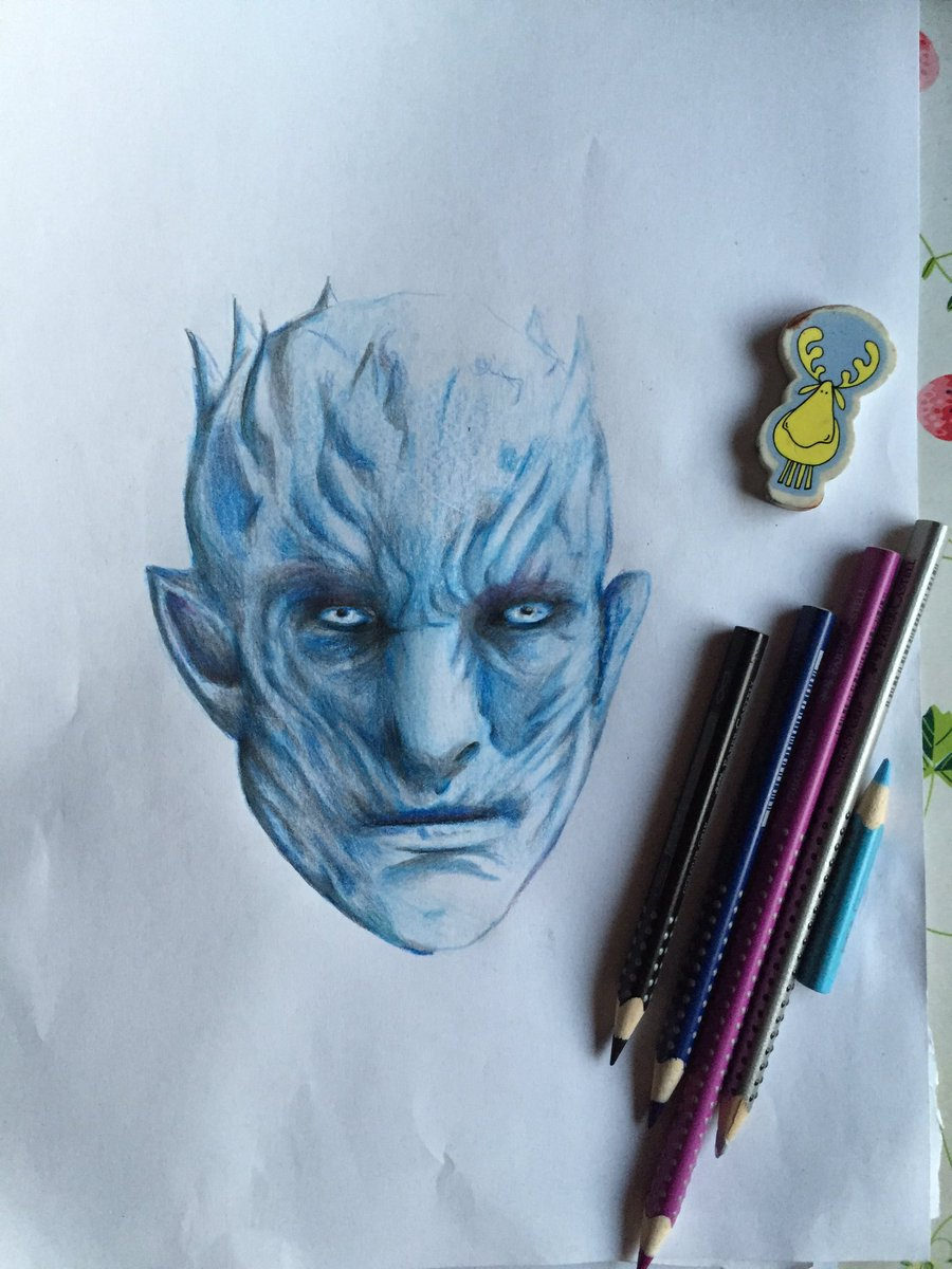 Winter is here!!! . #drawing  #GameofThronesS7Finale  #gameofthronesseason7  #WhiteWalkers<br>http://pic.twitter.com/qBUUSiOB1F