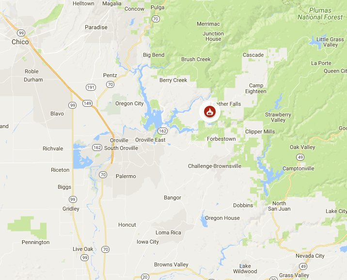 Cal Fire On Twitter Ponderosafire Update Near Ponderosa Way And