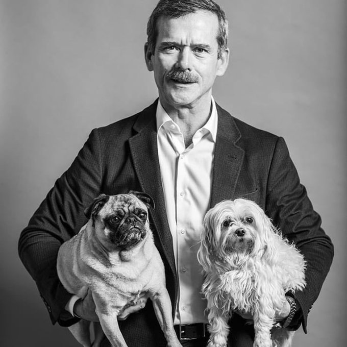 Happy birthday to the first rock star in space, dog loving astronaut Chris Hadfield!