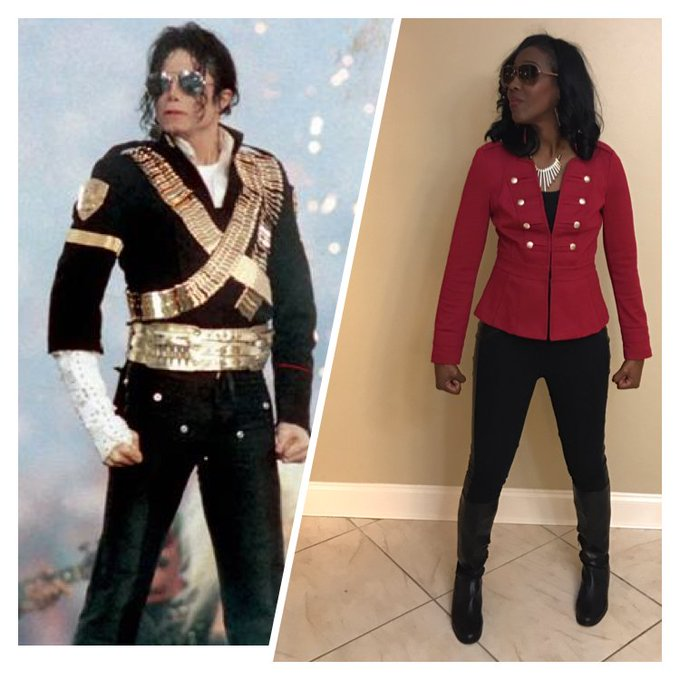 My Michael Jackson inspired outfit. Happy Birthday MJ