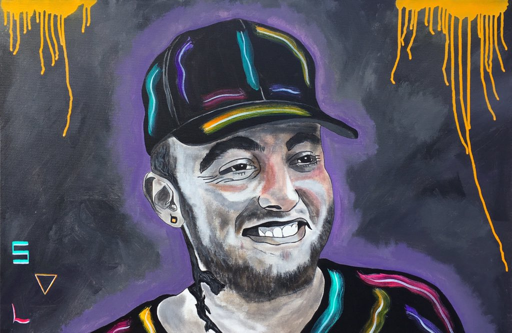 "🎨 PaintingsByAnthony on Twitter: ""MAC MILLER painting 🔥🎨🔥🎨🔊🔊🤘🎨🔥… """