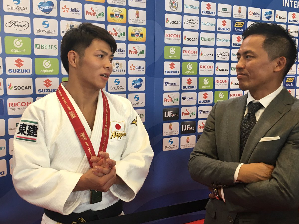 Two great judoka. One legend, one just turned world champion... in style. Abe & Nomura #judoworlds2017 https://t.co/DPvjYS58AM