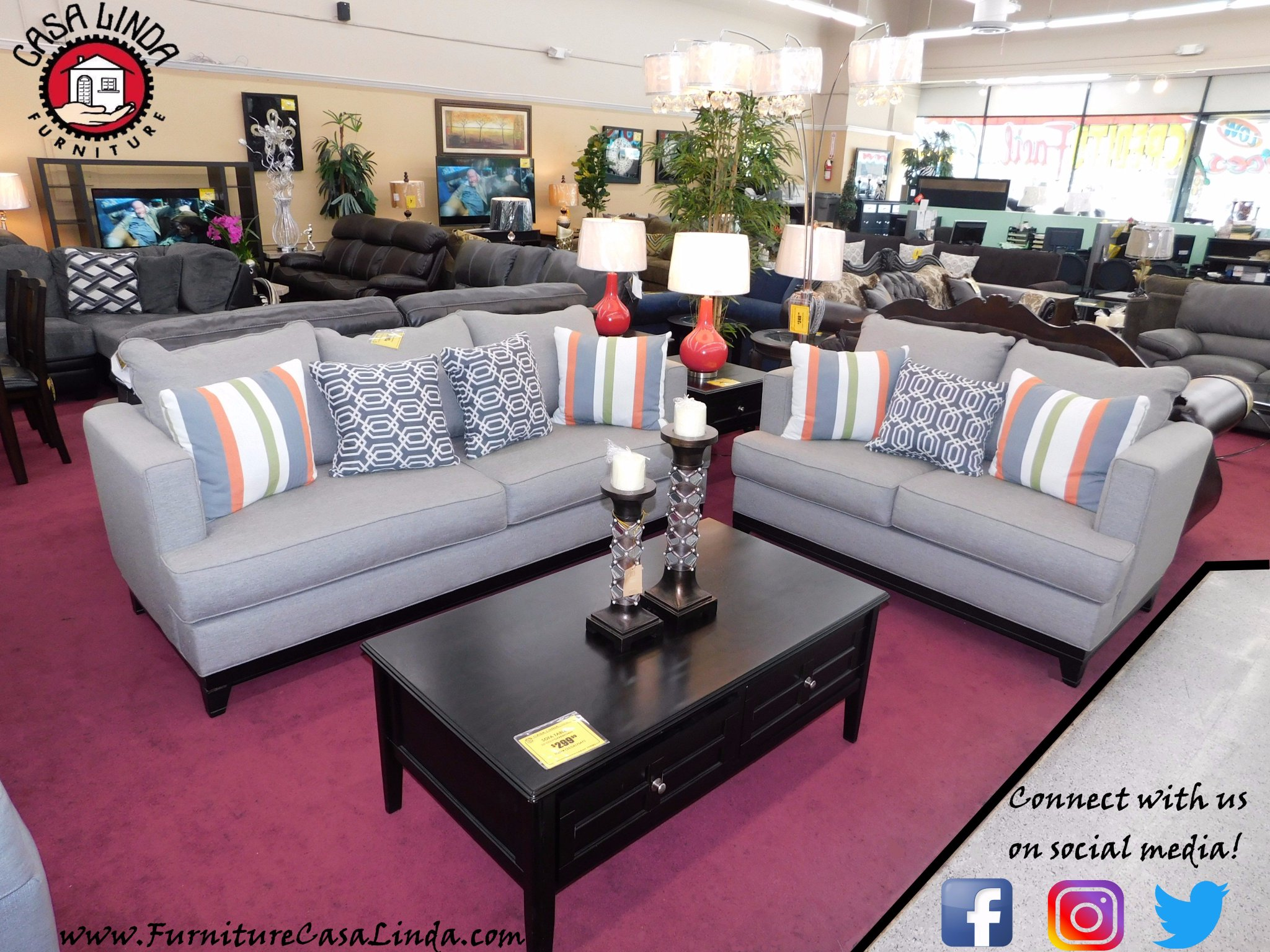 """Casa Linda Furniture on Twitter: """"Connect on our Social Media for"""