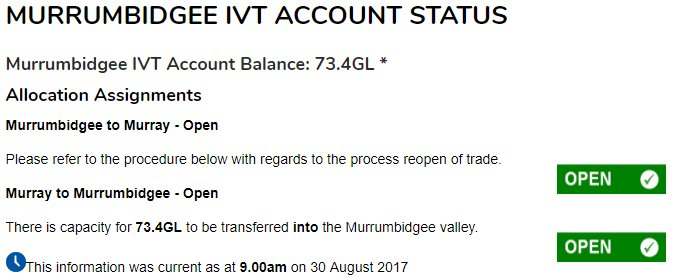 #IVT continues to move - more water being transferred into the Bidgee @H2OX_News @aithernews @BasinBaker @WaterFinn @progressiveagri<br>http://pic.twitter.com/bttlmj0UY4