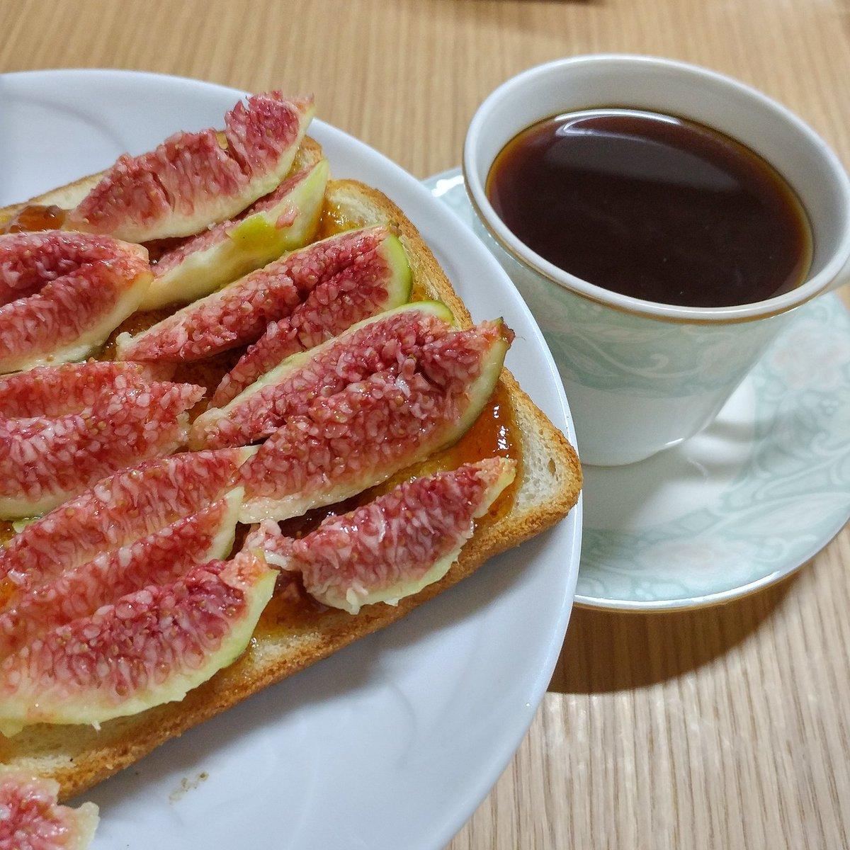 굿모닝! 무화과잼 바른 식빵 위에 무화과 꽉꽉 눌러 담은^^ 커피는 #챔프커프 https://t.co/m0Scq0wqn4