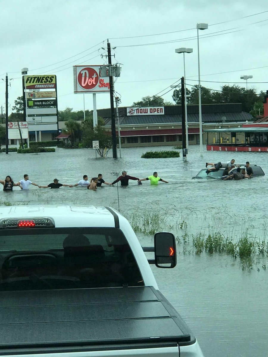 #Harvey has taken a lot, but it will NEVER take our humanity. We have seen so many neighbors helping each other. THANK YOU #HopeForHouston