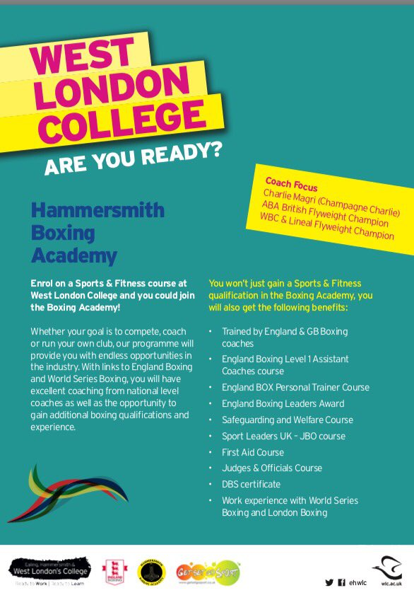 Hammersmith Boxing On Twitter Today Is The Hammersmith College