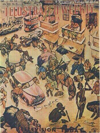 RK Laxman on #MumbaiRains (4-7-48) in Illustrated Weekly of India. Nothing has changed in 70 years (courtesy: WhatsAppforward) https://t.co/800fMZ9KfE