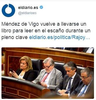 Por fortuna, el la bancada de Unidos Podemos estaban mucho más atentos. https://t.co/MG965G34is